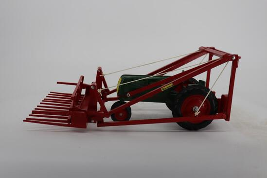 1/16 Oliver Row-Crop Tractor with Mounted Farmhand Hay Loader