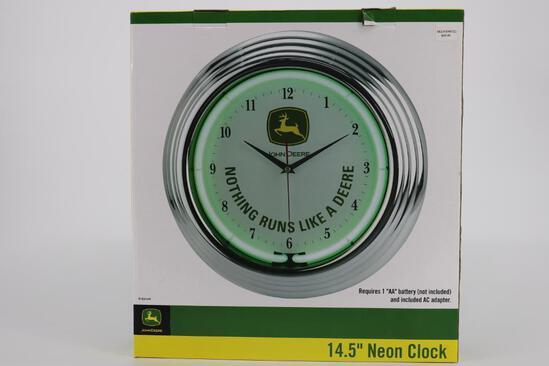 John Deere Neon Clock