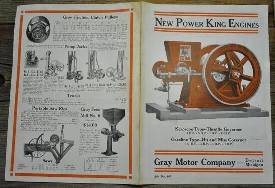 Gray New Power King Folded Flyer