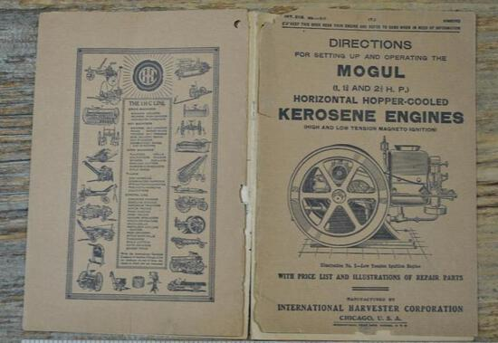 1917 IHC Mogul 1 - 2 1/2 HP Instruction Book