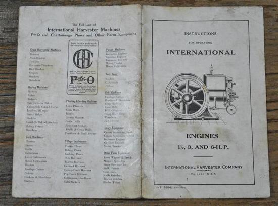 1920 IHC M 1 1/2- 6 HP Instruction Book