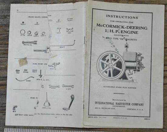 1925 McCormick-Deering...Instruction Book