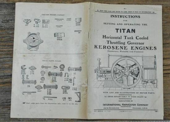 IHC Titan Gas Engine Instruction Book