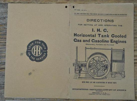 IHC Famous Gas Engine Instruction Book