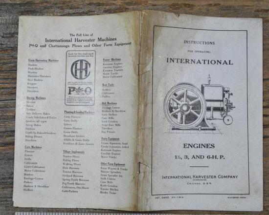 1919 IHC M 1 1/2- 6 HP Instruction Book