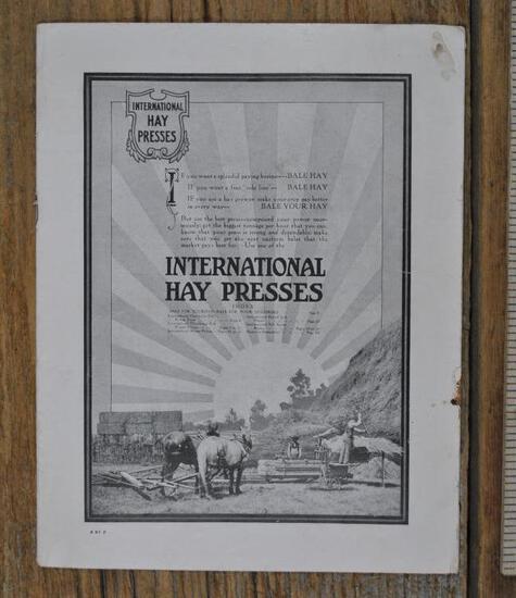 IHC Hay Press Catalog Full Line Catalog. Horse and Famous Engine Powered
