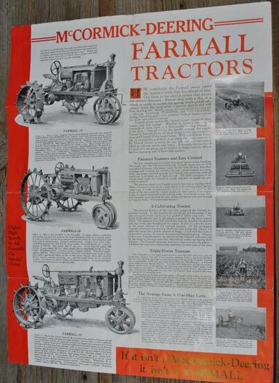 McCormick-Deering...Farmall Tractor Foldout Poster Size Flyer