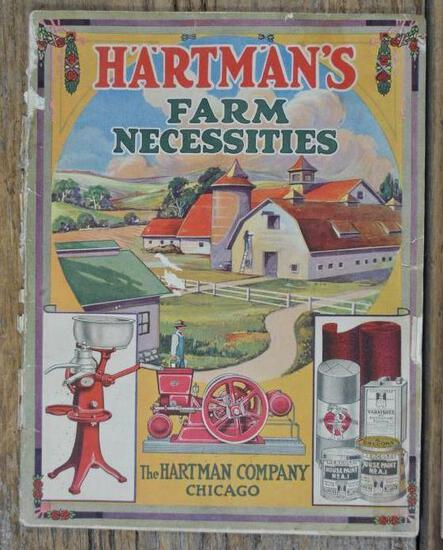 """Hartman Co. Chicago Full Line Catalog. Majestic Gas Engines. 88 page, 8 1/2"""" x 11"""". Soiling & loose"""