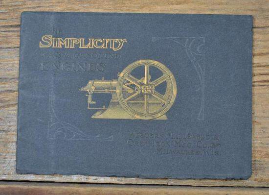 The Simplicity Gasoline Engines Catalog. Western Malleable & Grey Iron Mfg. Co. Milwaukee, Wis.
