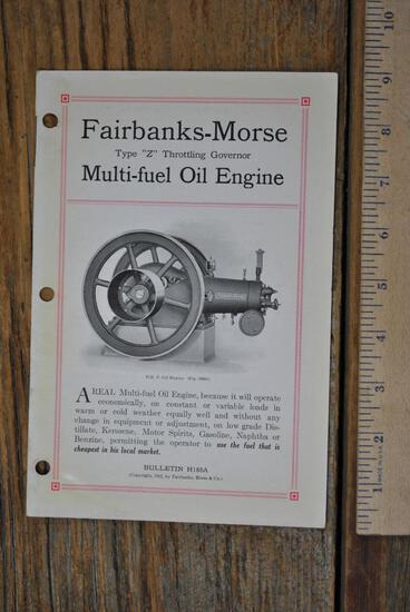 1915 Fairbanks - Morse Type Z Multi-Fuel Oil Engine Bulletin H188A