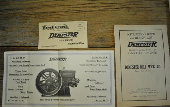 Dempster Repair List, Pump Jack Flyer and Post Card