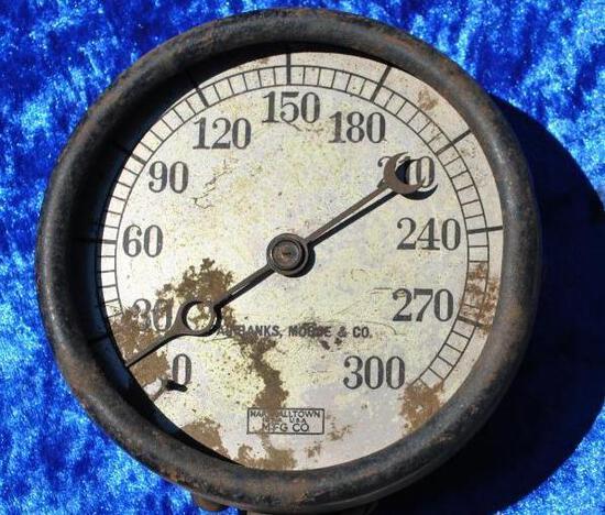 Fairbanks Morse Steam Gauge