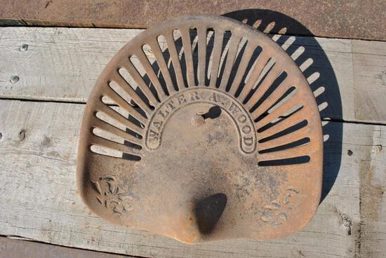 Walter A Wood Cast Iron Seat