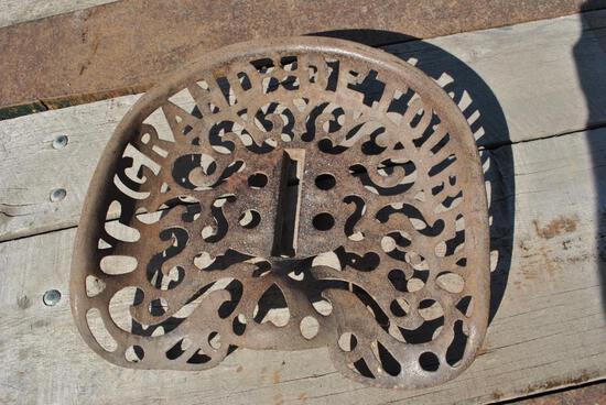 Grand Detour Plow Cast Iron Seat