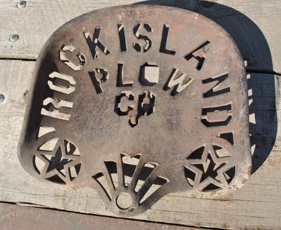 Rock Island Plow Co. Cast Iron Seat