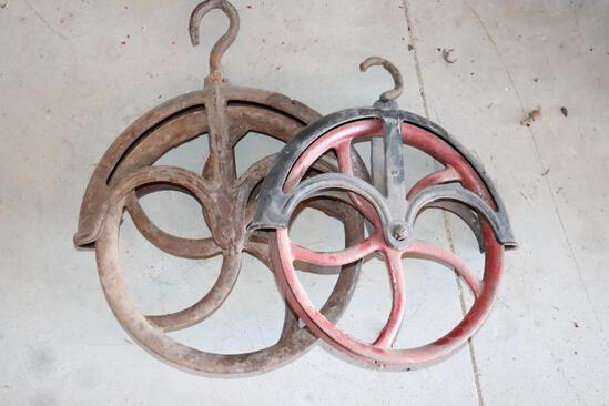 Two Assorted Pulleys