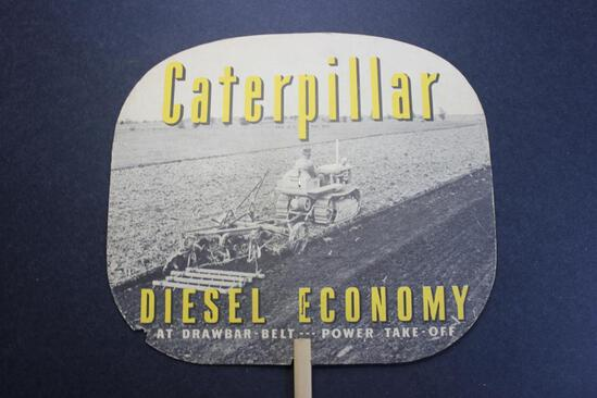 Caterpillar Paper Fan