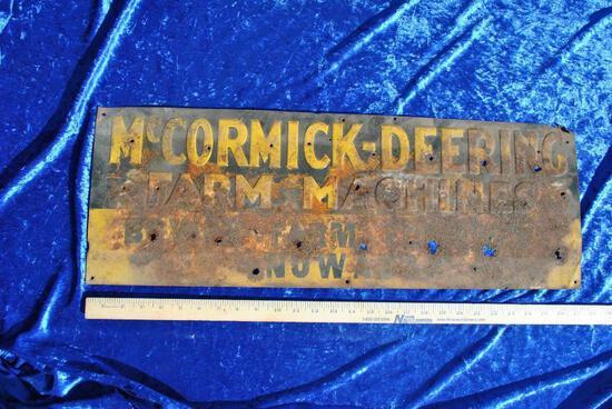 McCormick Deering Sign