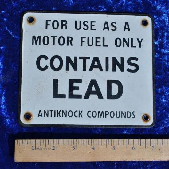 Motor Fuel Porcelain Sign