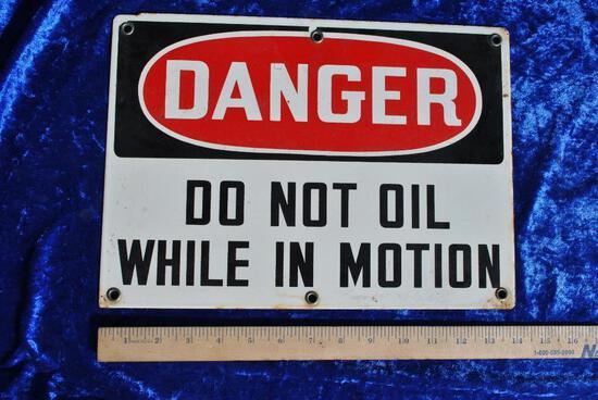 Porcelain Danger Sign