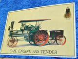 Case Engine and Tender Metal Sign