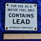 Motor Fuel Porcelain Sign