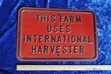 International Harvester Sign