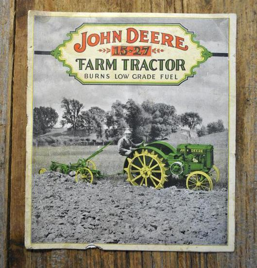 The John Deere 15-27 Farm Tractor Dealership Sales Brochure