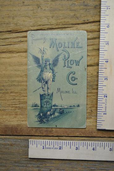 Moline Plow Co. Map of Indiana