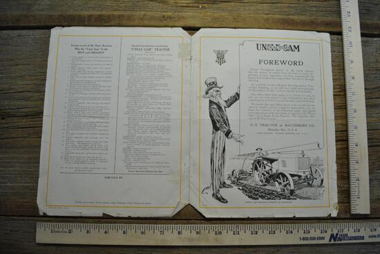 Uncle Sam Tractors Literature