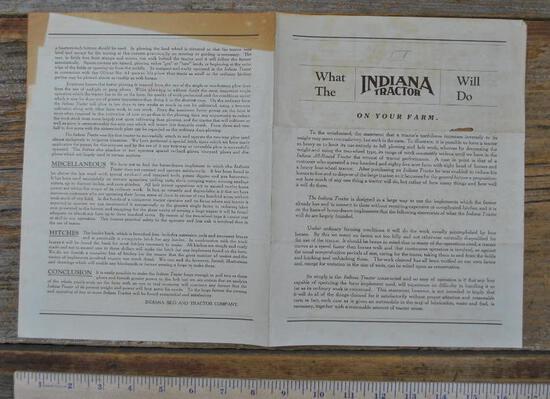 Indiana Tractor Literature