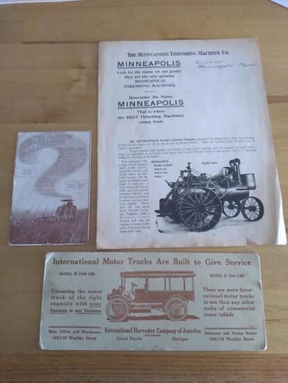 Rumely and Minneapolis Literature