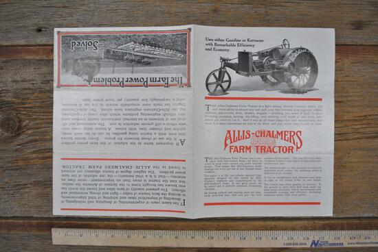 Allis-Chalmers 10-18HP Literature
