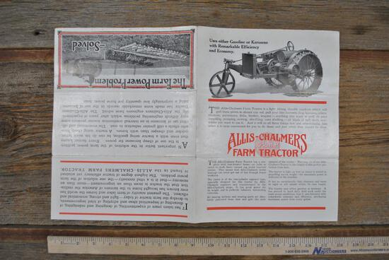 Allis-Chalmers 10-18HP Literature