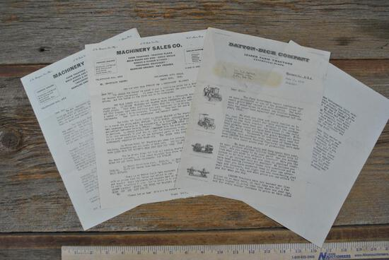 Three Tractor Company Personal Letters