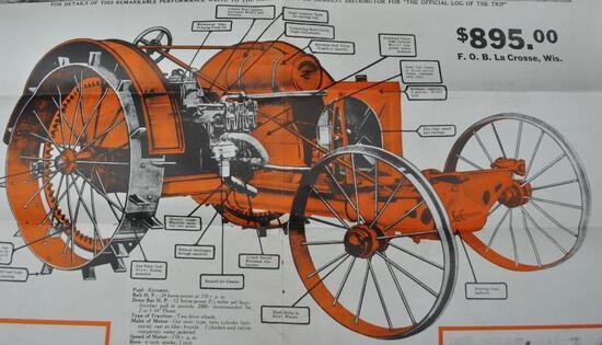 Large Folded LaCrosse Tractor Brochure