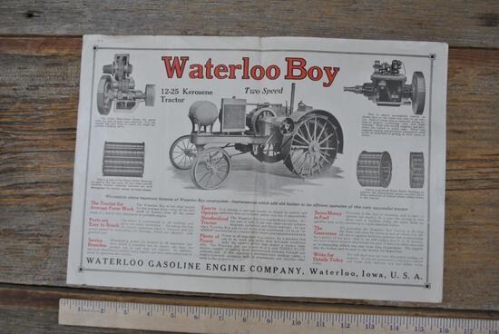 Bi-fold Magazine Waterloo Boy Advertisement, 1918