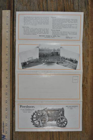 Fordson Foldout 4 pages