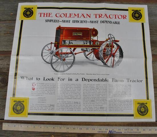 Coleman Tractor Brochure