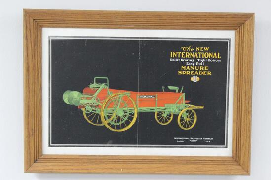 IHC Manure Spreader Framed Advertisement