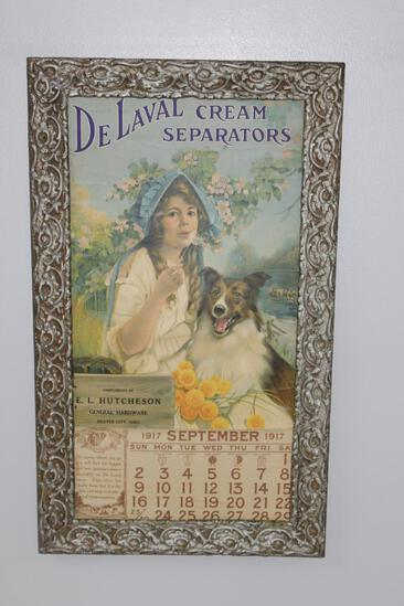 DeLaval Cream Separators Calendar/Framed Advertisement