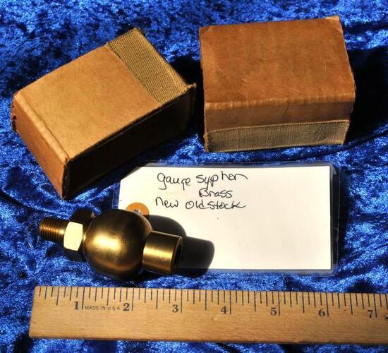 NOS Brass Steam Gauge Syphon