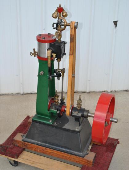 Upright Stationary Steam Engine