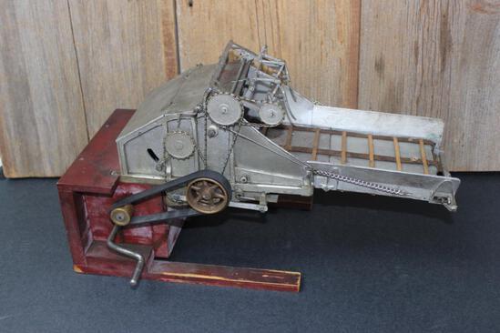 Salesman Sample Threshing Machine Feeder with Carrying Case
