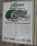 Lauson Kerosene Tractor Large Color Foldout Flyer Poster Size Advertising Piece