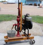 Fuller & Johnson Farm Pump Stationary Engine with Water Pump