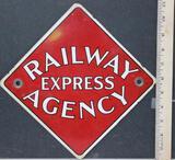 Railway Agency Porcelain Sign