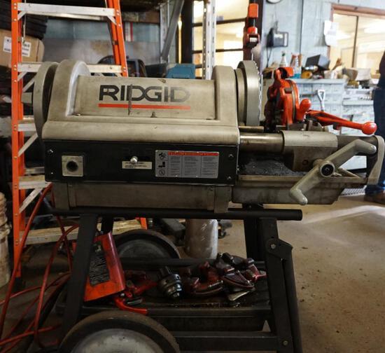 Ridgid Model 1224 Threader With Cart