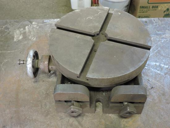 Ten inch rotary table for milling machine