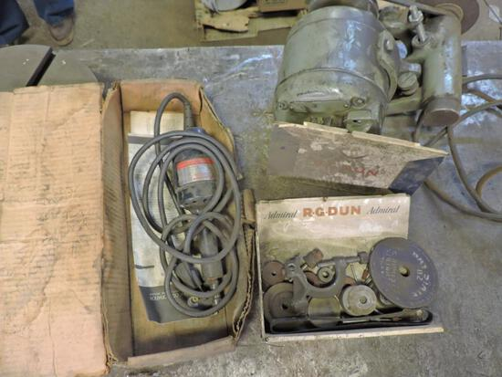 Dumore tool post grinder and accessories